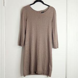 H&M brown beige angora sweater dress